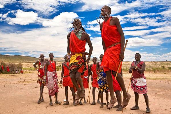 masai cultural dancers